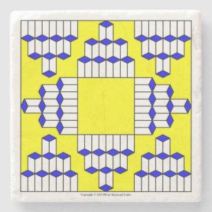 White Honeycomb Stone Coaster