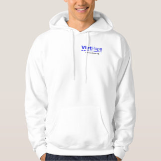 """WHITE HOODED SWEATSHIRT """"Home"""" (LOGO IN FRONT)"""