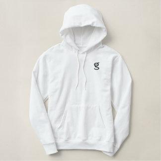 White Hoodie w Black Embroidered I'm G Logo