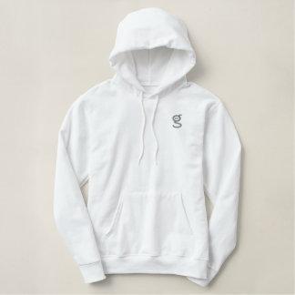 White Hoodie w Grey Embroidered I'm G Logo