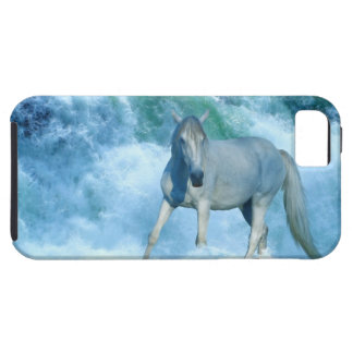 White Horse and Ocean Surf for Equine-lovers iPhone SE/5/5s Case