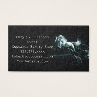 White Horse and The Attack of Wild Wolves Business Card