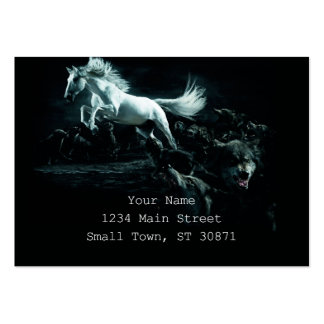 White Horse and The Attack of Wild Wolves Large Business Card