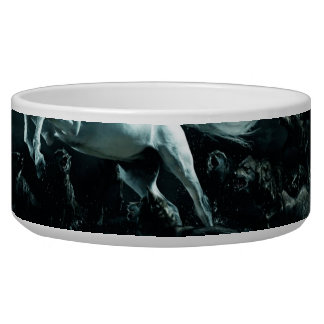 White Horse and The Attack of Wild Wolves Dog Water Bowls