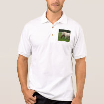 White Horse Animal Polo Shirt