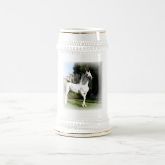 White Horse Beer Stein Coffee Mug