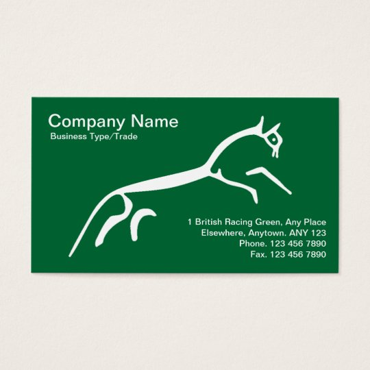 White Horse Business Card