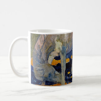 White Horse by Gauguin, Vintage Impressionism Art Coffee Mug