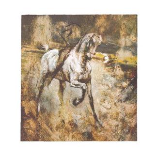 White Horse by Giovanni Boldini Memo Pad