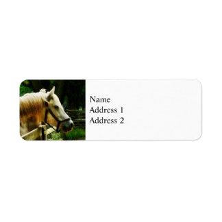 White Horse Closeup Label