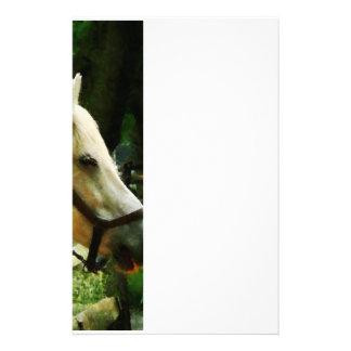 White Horse Closeup Stationery