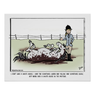 White Horse Comic Poster
