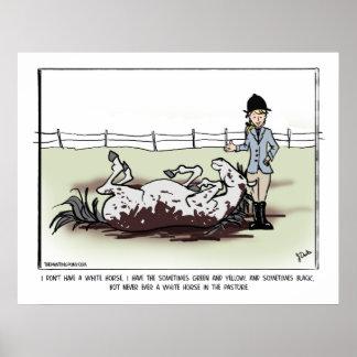 White Horse Comic Poster