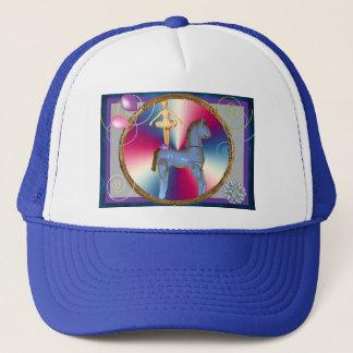 White horse dancer trucker hat
