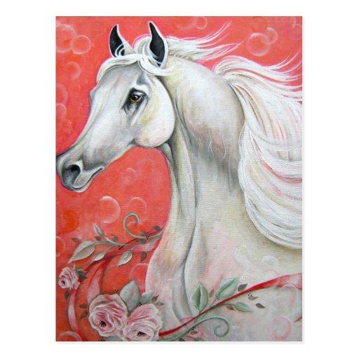 White Horse Design Postcard