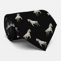 White Horse Diamond Pattern Tie