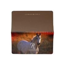 White Horse, DIY Name & Monogram Checkbook Cover
