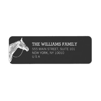 White Horse Equestrian Return Address Label