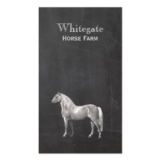 White Horse Equestrian Rustic Black Business Card Pack Of Standard Business Cards
