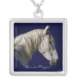 White Horse Equine-Photography Necklace Pendant