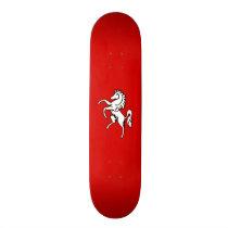 White Horse (Flag of Kent) Skateboard