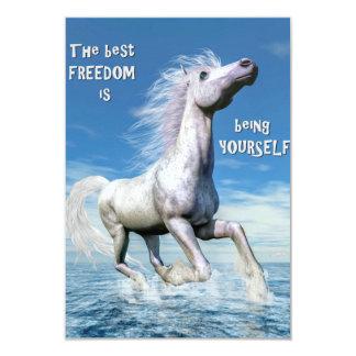 White horse freedom - 3D render Card