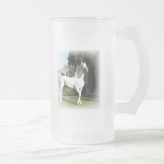 White Horse Frosted Beer Mug