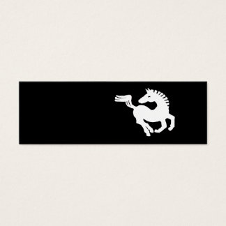 White horse galloping mini business card