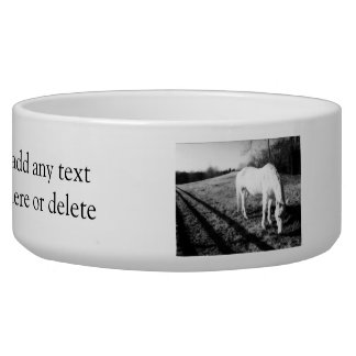 White Horse Grazing Bowl