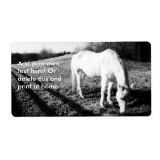 White Horse Grazing Label