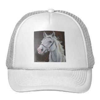 White Horse Mesh Hats