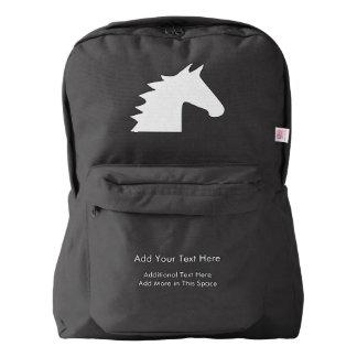 White Horse Head American Apparel™ Backpack
