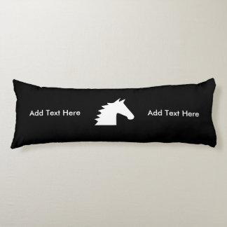 White Horse Head Body Pillow