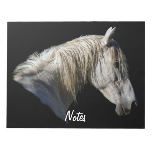 White Horse Head Equine-lover's Notepad