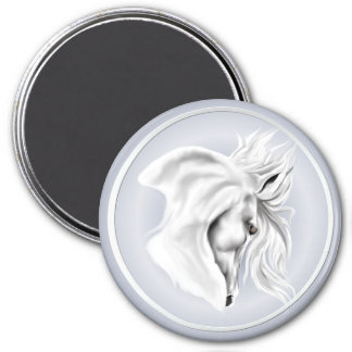 White Horse Head Magnet
