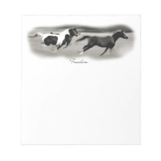 White Horse Head Note Pad