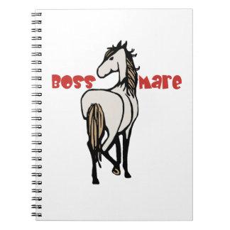 White Horse Head Notebook