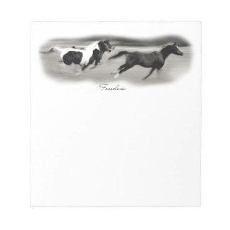 White Horse Head Notepad
