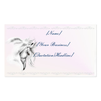White Horse Head profilecard_business_horizonta... Double-Sided Standard Business Cards (Pack Of 100)