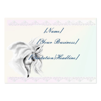 White Horse Head profilecard_chubby_horizontal,... Large Business Cards (Pack Of 100)