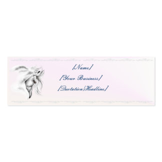 White Horse Head profilecard_skinny_horizontal,... Double-Sided Mini Business Cards (Pack Of 20)