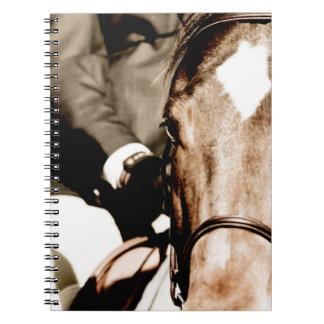 White Horse Head Spiral Notebook
