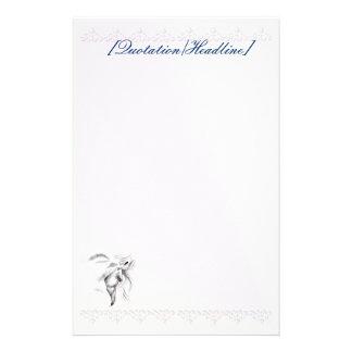White Horse Head stationery_vertical.v2, [Quota... Customized Stationery