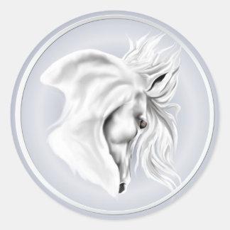 White Horse Head Sticker