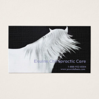 White Horse Head Three Panels Business Card