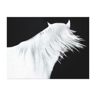 White Horse Head Three Panels Canvas Print