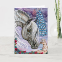 WHITE HORSE Hoilday Squirrel Note Card