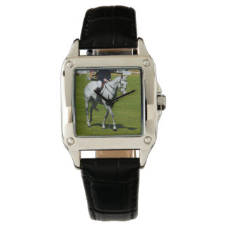 White Horse In Dressage Competition, Wristwatch