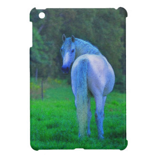 White Horse in Field Horse-lover's Case Case For The iPad Mini
