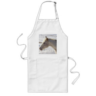 White Horse in Snow Long Apron